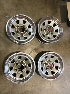 Ford Oem 4 15x7 Wheels Rims With Center Caps And Rings 66 96 Bronco F150 5x5 5