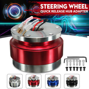 Universal Red Car Steering Wheel Quick Release Hub Racing Adapter Snap Off