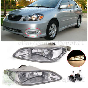 For Toyota 2005 2008 Corolla 2002 2004 Camry Clear Fog Lights Bumper Drl Lamp