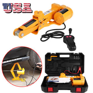 Car Jack Lift 12v 2ton Electric Hydraulic Floor Jack Impact Wrench Tire Tool Kit