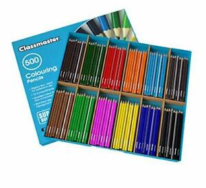 Cp500 Class Box Colouring Pencils Standard Full Size Pre Sharpened Wooden