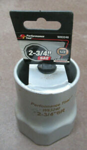 Performance Tool W83246 1 2 Dr 6 Point Rounded 2 3 4 Lock Nut Socket