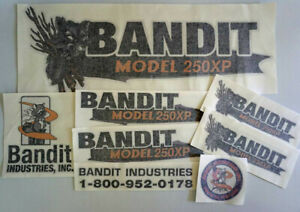 Brush Bandit Wood Chipper Model 250xp Decal Kit 250xp Decals Stickers Kit