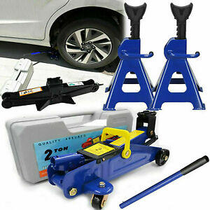 2 3 Ton Low Profile Floor Jack Stand Combo Car Truck Lift Shop Hydraulic Trolley