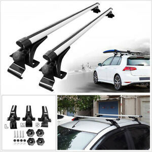 48 Universal Car Suv Top Roof Cross Bar Luggage Cargo Carrier Rack With Lock