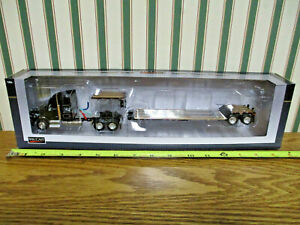 Gleaner Kenworth T880 Semi With Lowboy Trailer By Speccast 1 64th Scale