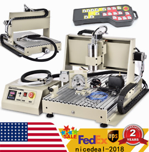 Usb 4 Axis Cnc 6040z Router Engraving Wood Metal Drilling Machine 1500w Rc