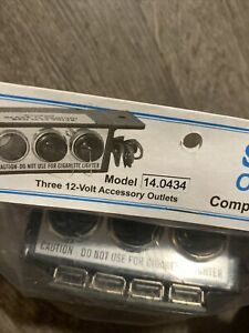 Sho me Able2 Outlet Box 14 0434 3 Dc Outlet 4 Usb New
