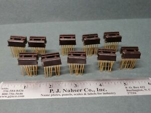 Augat 14 Pin Wire Wrap Ic Sockets Qty 10 Nos Gold Plated Pins