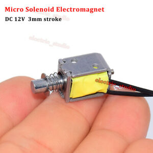 Dc12v Push Pull Through Type Micro Solenoid Electromagnet Spring Electric Magnet