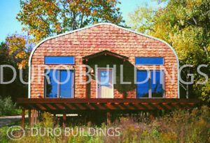 Durospan Steel 32 x50 x18 Metal Diy Home Building Kits Open Ends Factory Direct