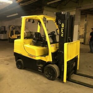 2015 Hyster S80ft 8000lbs Used Forklift W triple Mast Sideshift Lp Gas