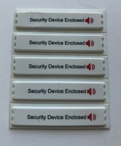 Signatronic Am Security Label Compatible W sensormatic Systems W warning Tex
