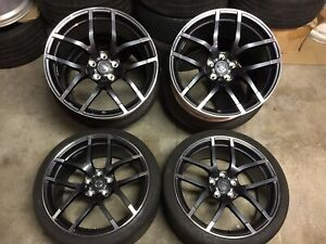 15 Nissan 370z Nismo Rays Forged Wheels Rims Staggered Set 19 Oem 350z G37