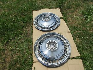 Buick 1965 Electra 225 Two Oem Hubcaps Great Shape