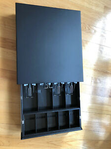 Cash Register Drawer Box 4 Bill 5 Coin Removable Tray Lock No Cable Connector