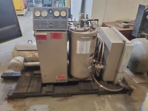 Used 50 Hp Leroi Rotary Skid Mounted Open Compressor