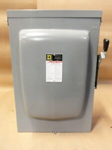 New Square D D225nr 400 Amp 240v 1 Phase 3w 3r Fusible Safety Switch Disconnect