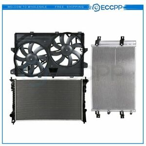 Radiator Condenser Cooling Fan Kit For 2007 2012 Ford Edge 2007 2011 Lincoln Mkx