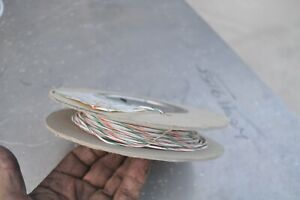 M16878 4bge935 22awg White Org Green Wire 600v 19 Strand Silver Plated 50ft