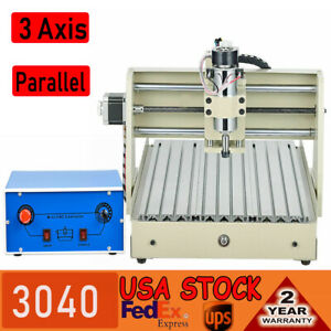 3 Axis 3040 Cnc Router Engraver Drilling Engraving Machine Motor 400w Parallel