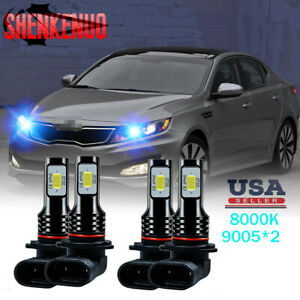 8k 9005 9005 Led Headlight Bulbs Hi lo Ice Blue For Kia Optima 2016 2019