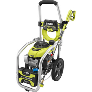 Ryobi Gas Pressure Washer 3300 Psi 2 3 Gpm Adjustable Nozzle Hose Included