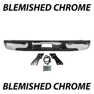 Blemished Chrome Rear Step Bumper Assembly For 1999 2006 Chevy Silverado 1500