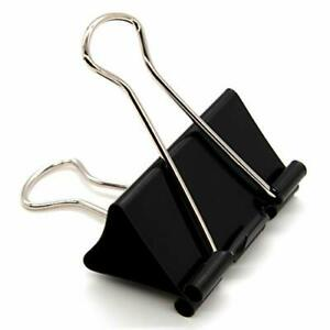 Extra Large Binder Clips Big Paper Clamps For Office Supplies Black 2in 24 Pack