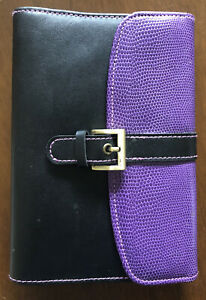 At a glance Day Runner Purple And Black Refillable Planner Slim Profile