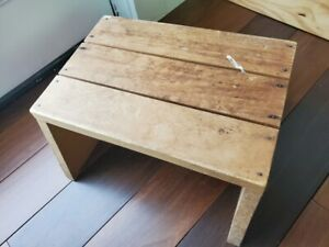 Vintage Wooden Wood Step Stool Child Bench Plant Stand Cottagecore Handmade