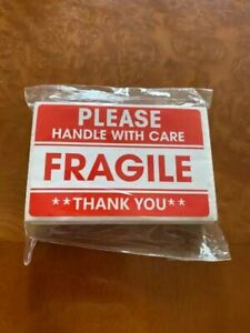 Warning Labels Fragile Stickers Please Handle With Care Thank You 100 200