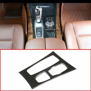 Abs Center Control Shift Gear Panel Carbon Cover Accessories For Bmw X5 10 2013