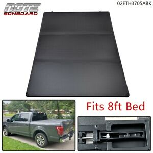 Tri Fold Hard Tonneau Cover Fit For Ram 1500 2500 3500 8ft Long Bed 2002 2021
