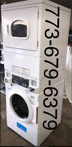 Speed Queen Commercial Stack Washer Electric Dryer Coin Operated