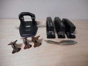 Lot Of Vintage Swingline Staplers 747 444 94 41 Hole Punch 74050 Staple Removers