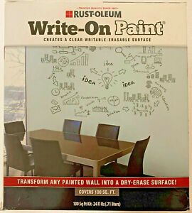 Rust oleum 72110 Write on Paint painted Wall Into Dry erase Surface