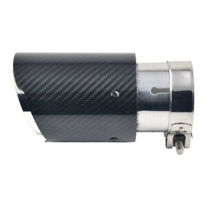 Real Carbon Fiber Exhaust Tip Exhaust Tail Pipe Burnt Blue Tip Pipe Universal