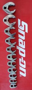 Snap On Tools 3 8 Drive 11 Pc Sae Crowfoot Line Wrench Style Wrench Set 211sfrh