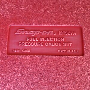 Snap On Fuel Injection Pressure Gauge Kit Mt337a Used Made In The Usa