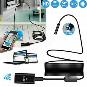 1 5m 8led Wireless Endoscope Wifi Borescope Inspection Camera For Iphone Android