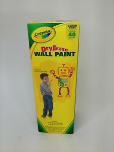 Crayola Dry Erase Wall Paint Draw On The Wall Covers 40 Sq Feet