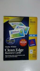Avery 8871 Matte White Clean Edge Business Cards 9 20 Sheet 10 Cards Per Sheet