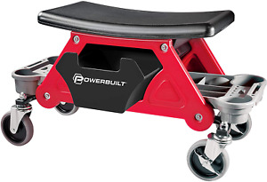 Powerbuilt Heavy Duty Roller Mechanics Seat And Brake Stool With 4 In Rubber Sw
