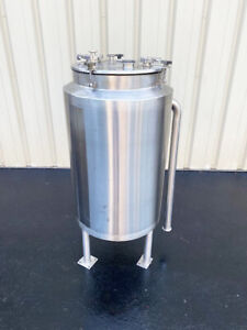 40 Gallon Stainless Steel Insulated Jacketed Tank Vessel Sanitary Food Grade