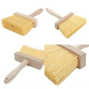 Masonry Brush Sweeper Wooden Handle Concrete Cement Cleaning Tool Home Use 1 Pc