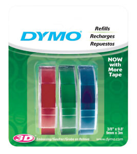 Dymo 3 8 In W X 9 8 Ft L Assorted Lable Maker Tape pack Of 1