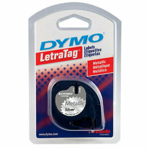 Dymo 1 2 In W X 156 In L Silver Lable Maker Tape pack Of 1