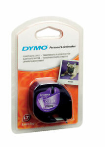 Dymo 1 2 In W X 156 In L Clear Lable Maker Tape pack Of 1