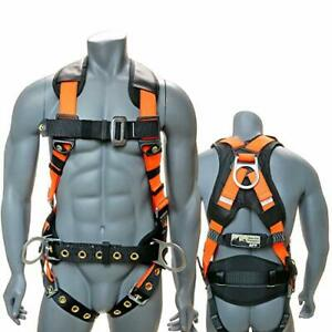 Full body Fall Protection Safety Harness 3d ring W shoulder Padding Padded Back
